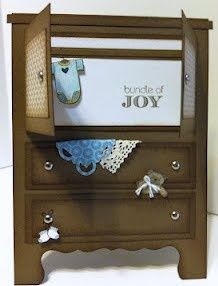 "I made this ""dresser"" card for my new grandson due to arrive any day now!!!Stampin' Up! Demonstrator, Gwen Edelman, Create with Gwen"