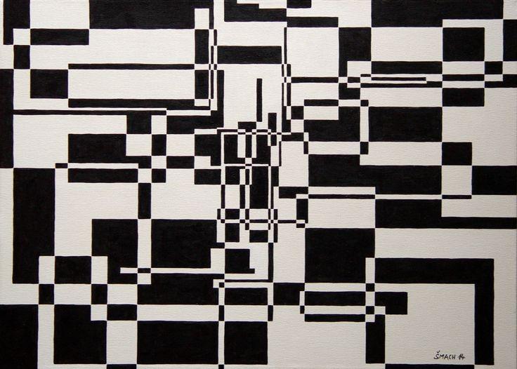Koncentrace středu, 2014 Akryl na plátně 50 x 70