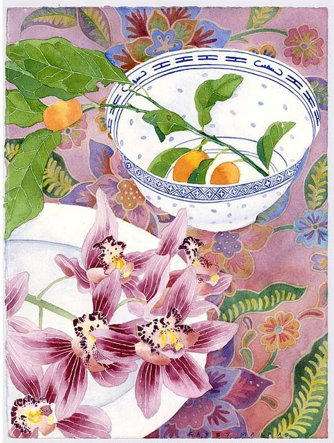 orchids kumquats and crockery |GABBY MALPAS