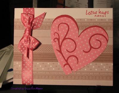 Lotsa Hugs ....By:Jennifer Moore: Valentine'S Day, Valentines Ideas, Cards Ideas, Cards Scrapbook Ideas, Building Cards, Valentine'S S, Cards Valentines, Valentines Cards, Valentines Day Cards