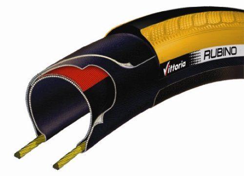Vittoria Rubino Road Bike Tyre Rigid 700 x 23 Yellow