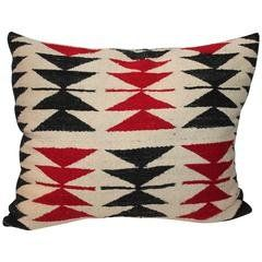Vintage Large Southwestern Woven Bolster Decorative Pillow For Sale at 1stdibs