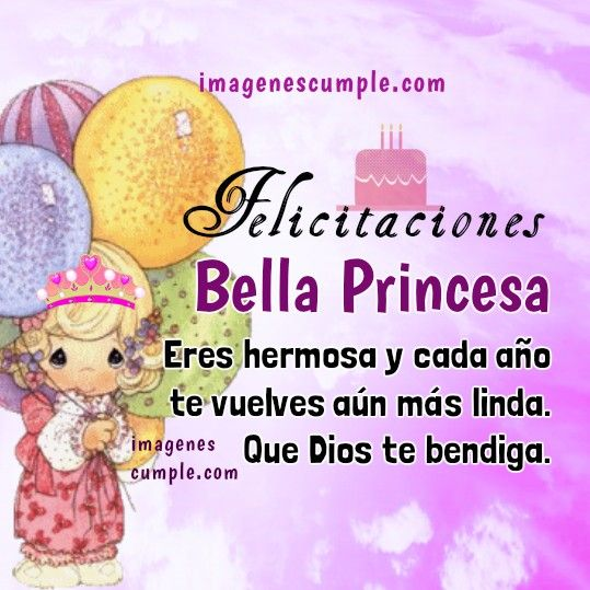 bella princesa tarjeta imagen