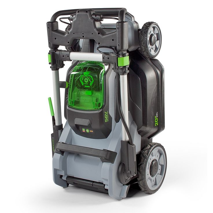This is the most powerful rechargeable mower on the market this EGO lawnmower also folds for maximum convenience.