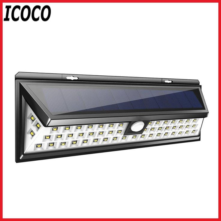 ICOCO 54 LEDs Solar Sensor Waterproof PIR Human Body Induction Motion Sensor Dimmable Wall Light for Outdoor Garden Landscape