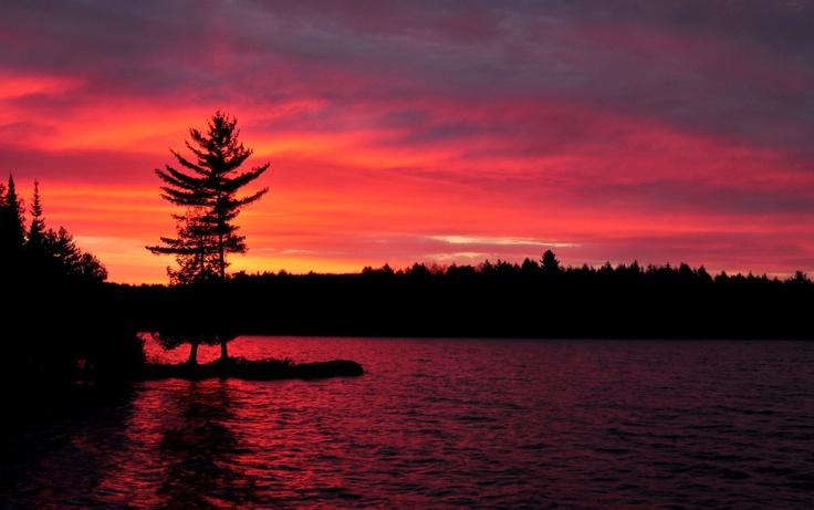 Sunset in Algonquin Park, Ontario