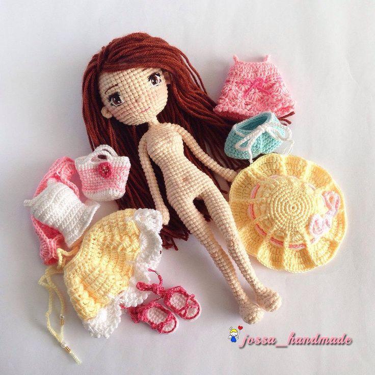 "283 Beğenme, 8 Yorum - Instagram'da @jossa_handmade: ""#crochet #crochetdoll #crochetlove #crochetaddict #crochetersofinstagram #amigurumi #amigurumis…"""