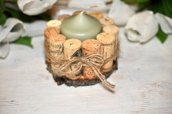 wine cork candle holders candle holders by Elevatedpartysupply