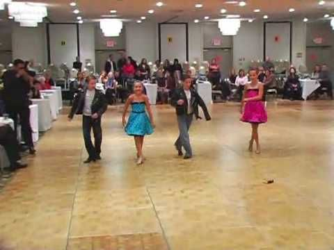Kids doing the Grease Dance during the San Francisco Ball room dance competition.