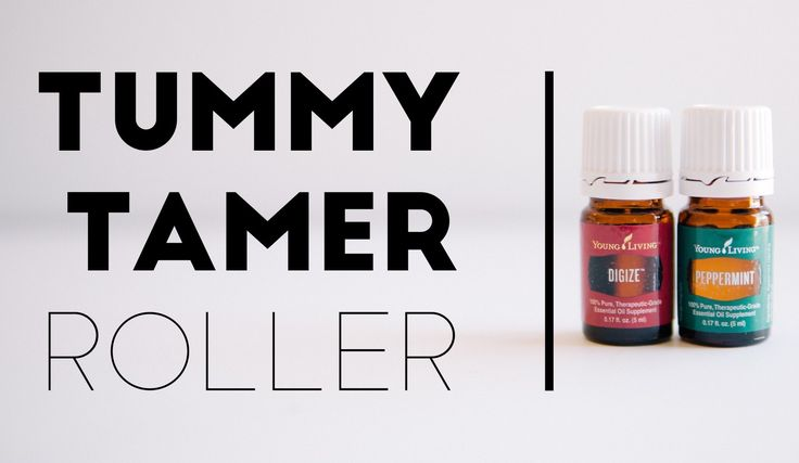 Tummy Tamer Roller  This roller is helpful for bellyaches, hiccups and withholding #2s.   Using a 10 mL roller bottle, drop the following essential oils into the  roller bottle.      * 12 drops DiGize essential oil blend     * 4 drops peppermint essential oil blend  Variation - add 10 drop