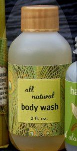 Citrine Body Wash 2 oz. by Dolce Mia Designs. $4.00. Natural Castile Body Wash. Tropical Citrus scent. Made in USA. By designer Jenny Mountjoy. Organic Ingredients. Biodegradable/Hypoalergenic/Cruelty free. Our castile body wash lathers beautifully and leaves your skin soft and smelling great.  Scent: Tropical Citrus