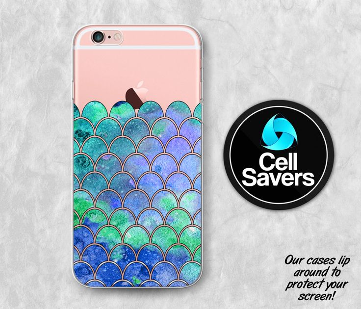 Mermaid Scales Clear iPhone 6s Case iPhone 6 Case iPhone 6 Plus iPhone 6s Plus iPhone 5c iPhone 5 iPhone SE Clear Case Blue Green Cute Scale by CellSavers on Etsy https://www.etsy.com/listing/269646165/mermaid-scales-clear-iphone-6s-case