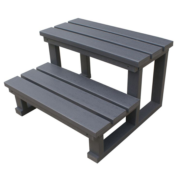 Spa World Two-Tier Steps Grey, durable synthetic construction, without the hassle of wooden steps. http://spastore.com.au/two-tier-spa-steps-grey-color/ #pool #spa #spapool #swimspa
