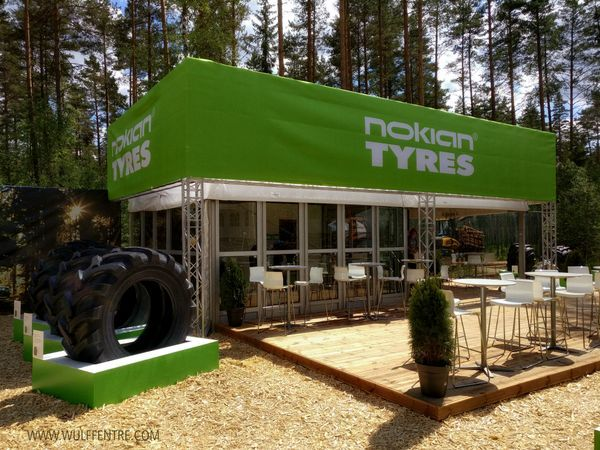 We are at Elmia Wood today in Jönköping, Sweden with our client Nokian Tyres