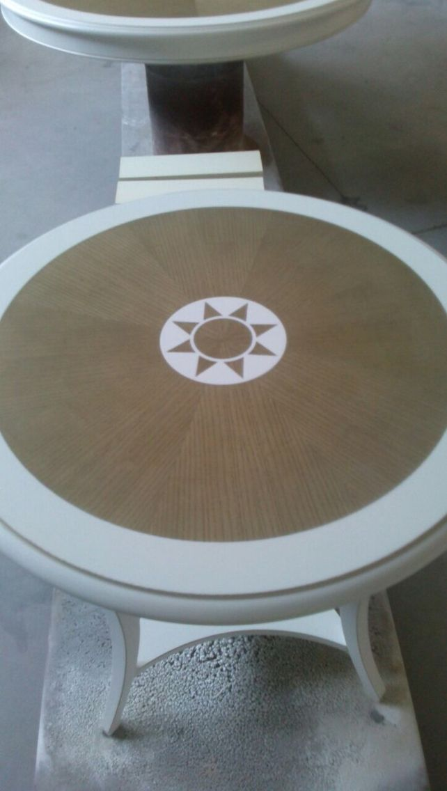 Top coffee  round table in paint finishing