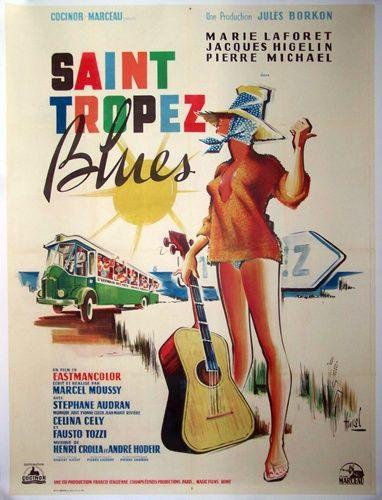 St Tropez Blues affiche cinéma originale de 1961