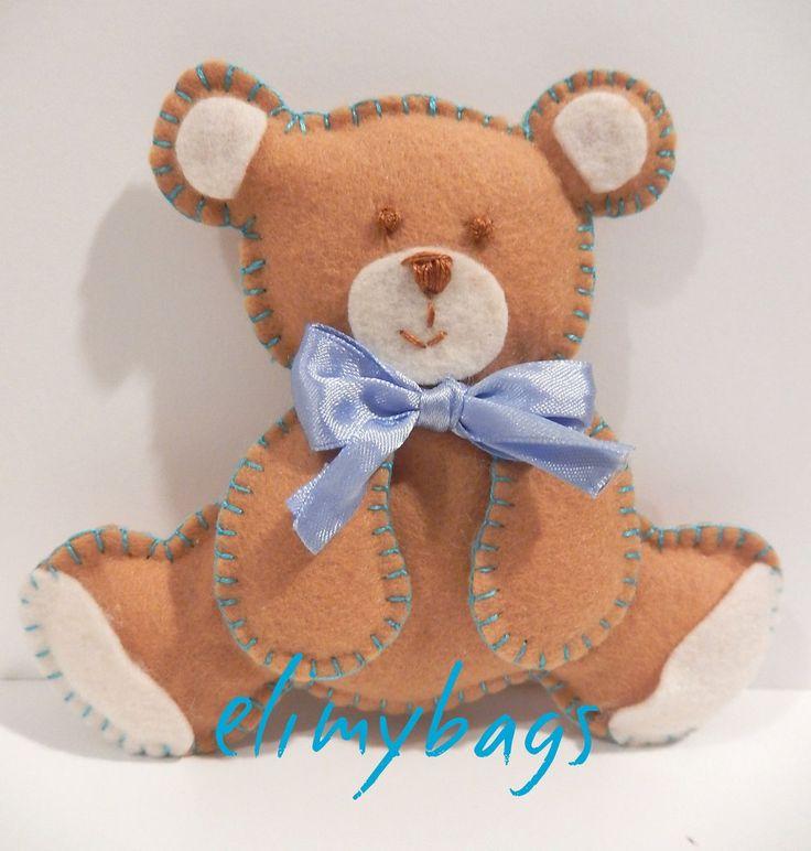 Orsetto in feltro 3D bambino fatto a mano♥, by Elimybags, 12,00 € su misshobby.com