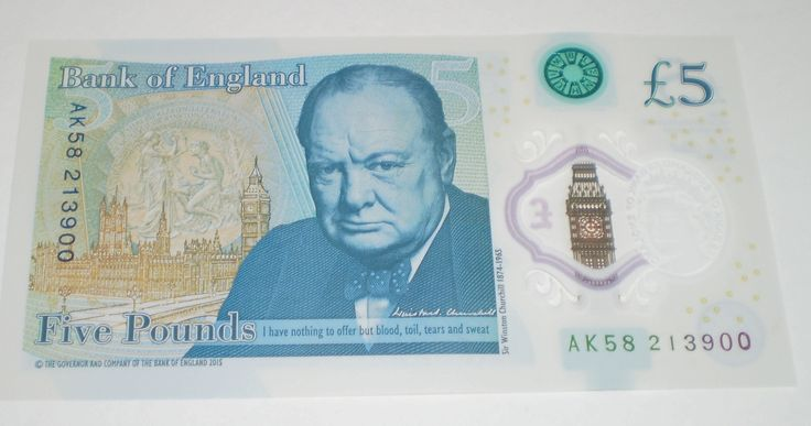New Bank of England £5 Polymer Note AK58 213900 AK58213900 Collectable Money