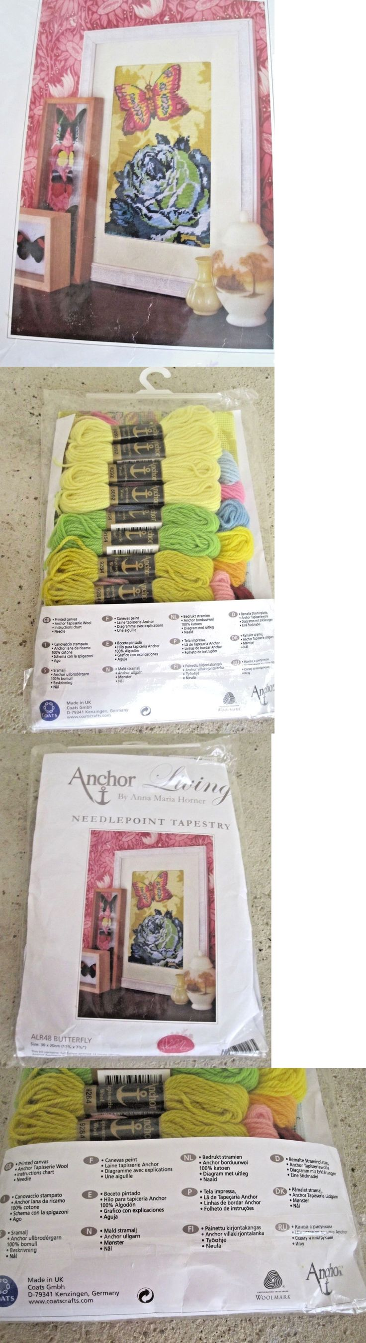 Needlepoint Kits 3109: Anchor Living Anna Maria Horner Needlepoint Tapestry Kit Alr 48 Butterfly Floral -> BUY IT NOW ONLY: $79.99 on eBay!
