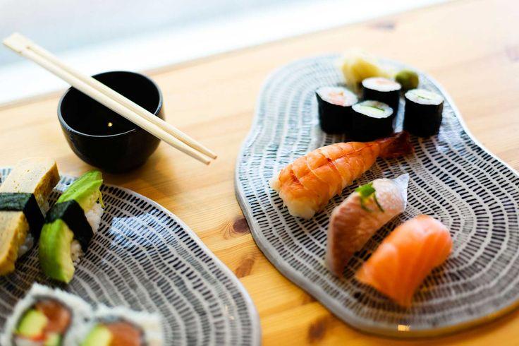 Ameba serving plate | Sushi plate. #kerafiikka #handmade #ceramics