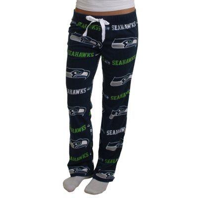 Seattle Seahawks Ladies Highlight Microfleece Pants - College Navy