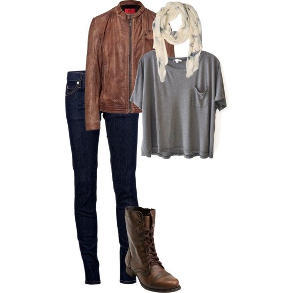 fall outfit. @Veronica Rodriguez looks like the combat boots you want to get !! lol