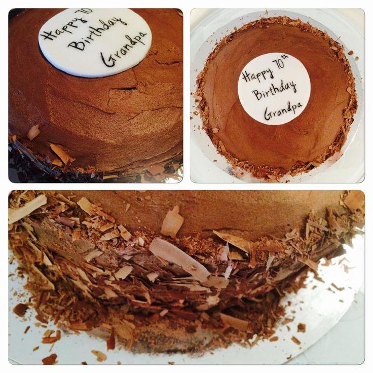 Nothing beats Chocolate Cake with Chocolate Buttercream...yum!
