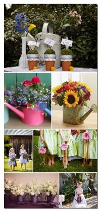 Watering Cans Wedding Decor