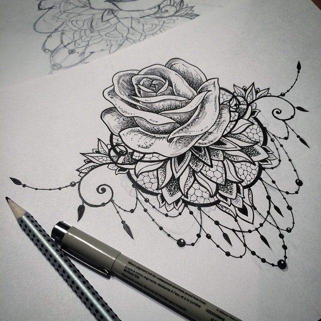 mandala tattoo rose dotwork on Instagram