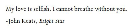 John Keats, Bright Star
