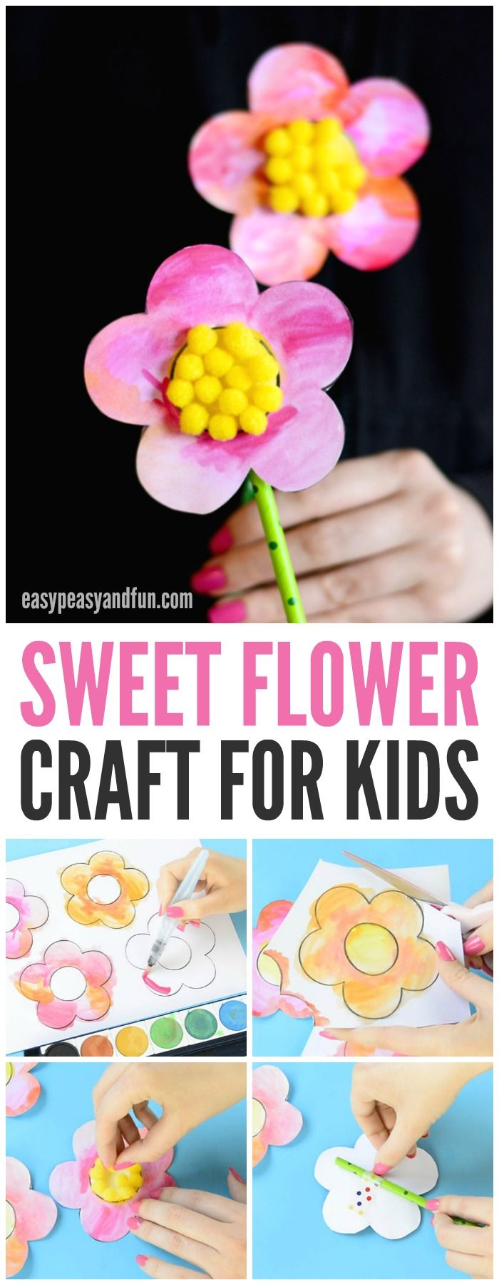 Adorable Flower Craft for Kids to Make