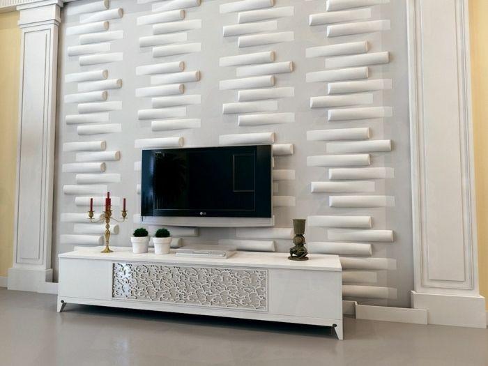 TV Wandpaneel - 35 ultra moderne Vorschläge - Archzine.net ...