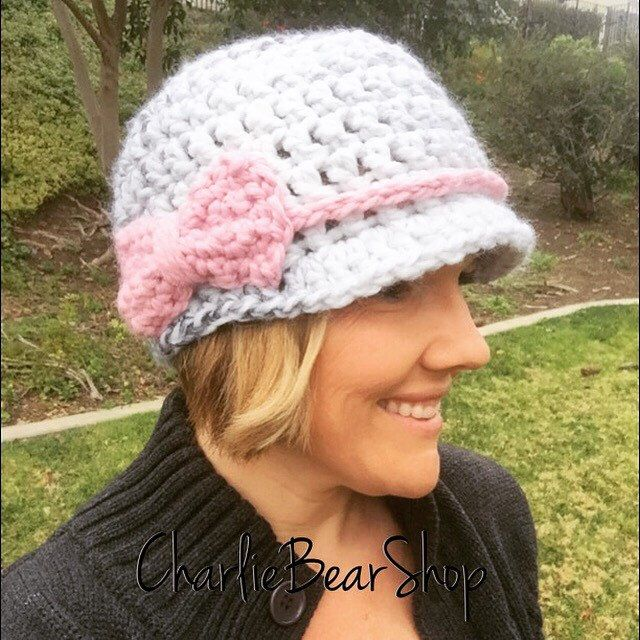 A personal favorite from my Etsy shop https://www.etsy.com/listing/504643029/the-audrey-cap-brimmed-winter-cap-with-a