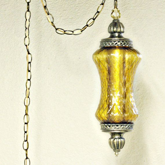 Vintage Hanging Light Hanging Lamp Swag Lamp Clear