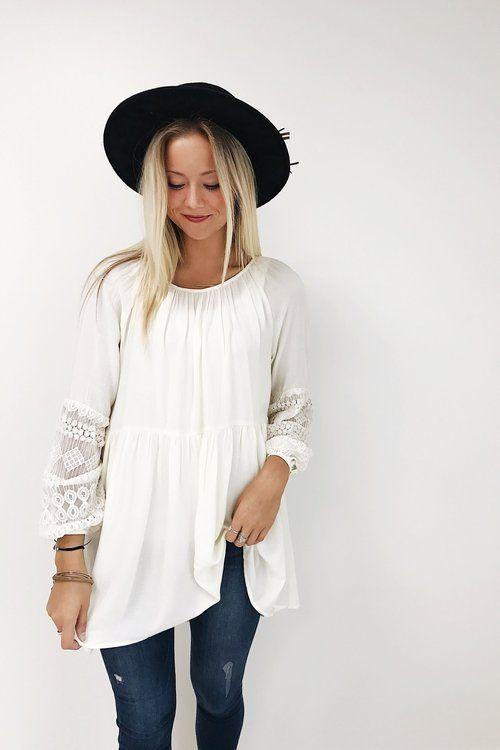 Lace Sleeve Blouse | ROOLEE  Women's Fashion | #MichaelLouis - www.MichaelLouis.com