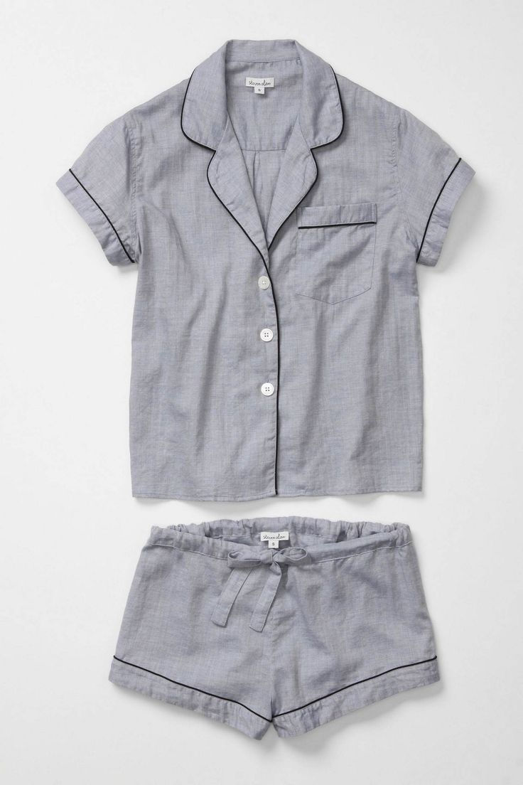 Matching pjs from anthropologie--cute!