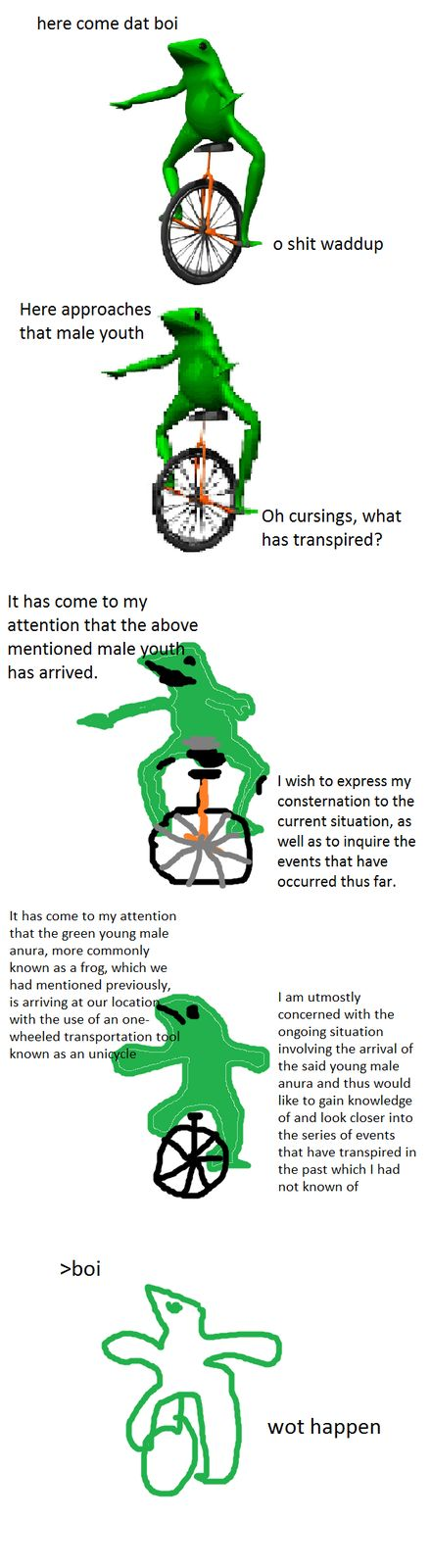 dat boi increasingly verbose<<< I FOUND THE NAME OF THE MEME