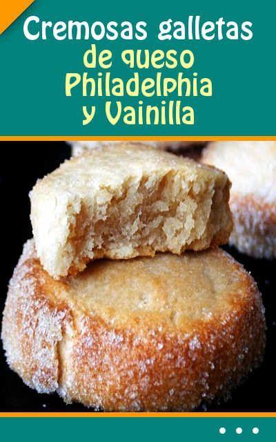 Cremosas galletas de queso Philadelphia y Vainilla