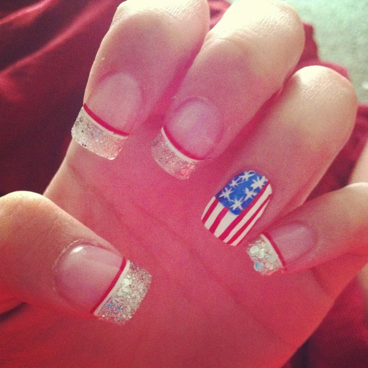 Best 25+ American Flag Nails Ideas On Pinterest