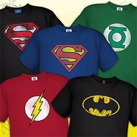 Toddler Superhero Distressed T-Shirts