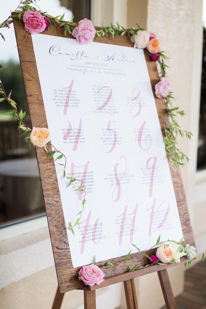 結婚式のかわいいパステル調の席次表まとめ一覧♡
