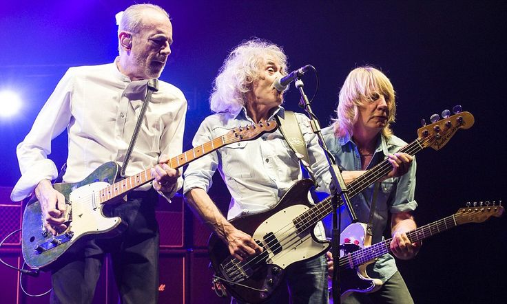 Creaking all over the world! Original Status Quo line-up take to stage at Hammersmith Apollo during their last ever tour #DailyMail.  Can't be last tour as have booked tickets for Dcember!