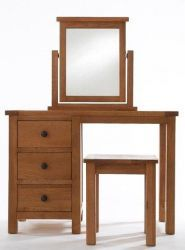 Yoke Oak Dressing Table + stool http://solidwoodfurniture.co/product-details-oak-furnitures-2615-yoke-oak-dressing-table-stool.html