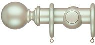 Regency Pearlescent 35mm & 48mm Wood Curtain Pole, Soft Green