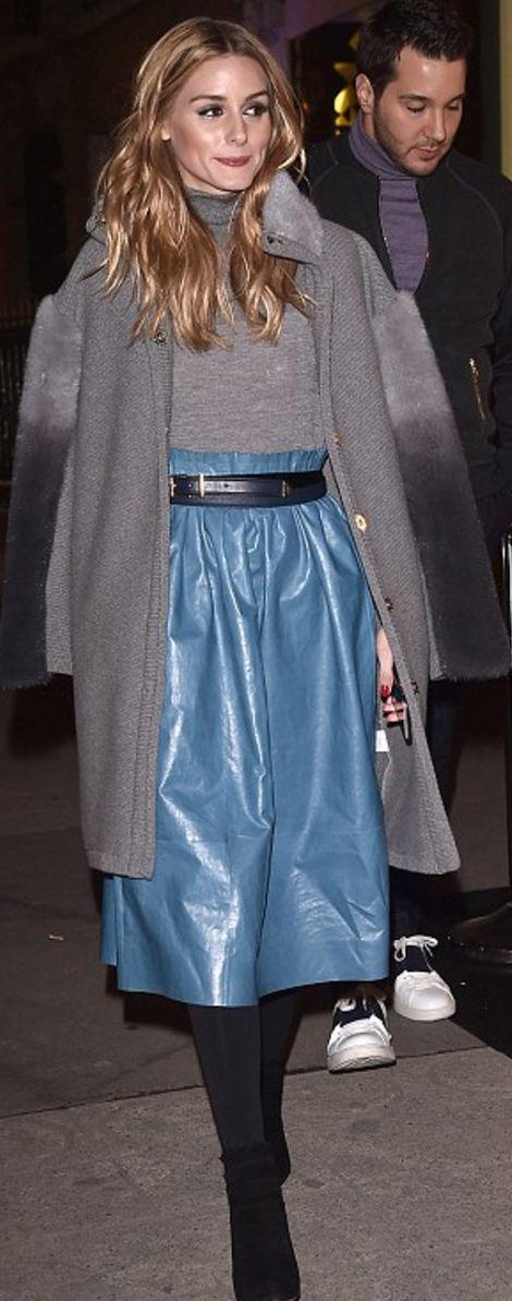 Olivia Palermo wearing Nina Ricci and Tabitha Simmons