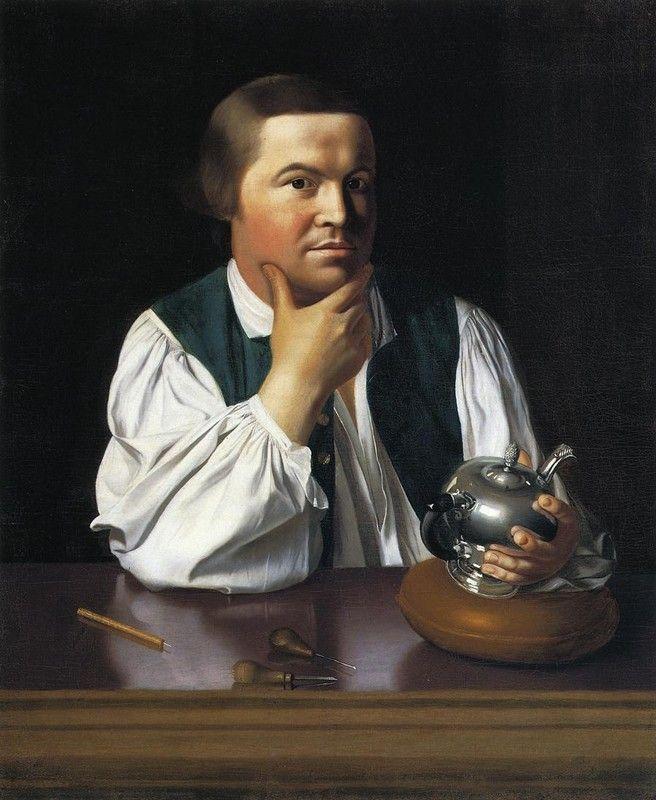 Retrato de Paul Revere, John Singleton Copley , 1768-1770