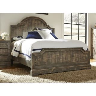 This king-size bed will complete your bedroom decor in rustic sophistication. Constructed from salvaged pinewood with tongue and groove frame for added durability. The weathered grey finish creates in