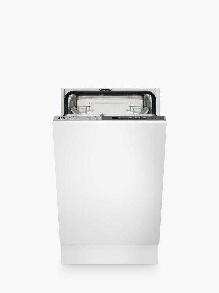 AEG FSB51400Z Integrated Slimline Dishwasher, Grey