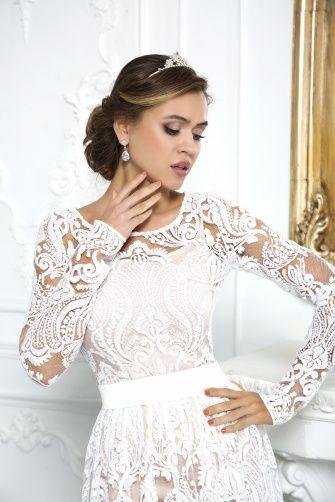 ND095Свадебное платье с рукавом, свадебное платье с открытой спиной