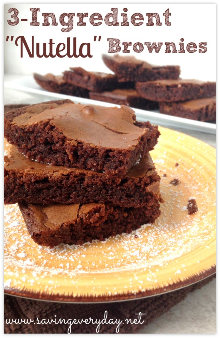 """My Chocolate Hazelnut """"Nutella"""" brownies are to-die-for and only ..."""